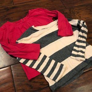 Gap Bundle x2 -- Toddler Girls Shirts, sz 12-18m